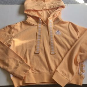 Kappa X Urban Outfitters Cropped Hooded Sweatshirt